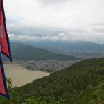 Vista di Pokhara dallo stupa della Pace