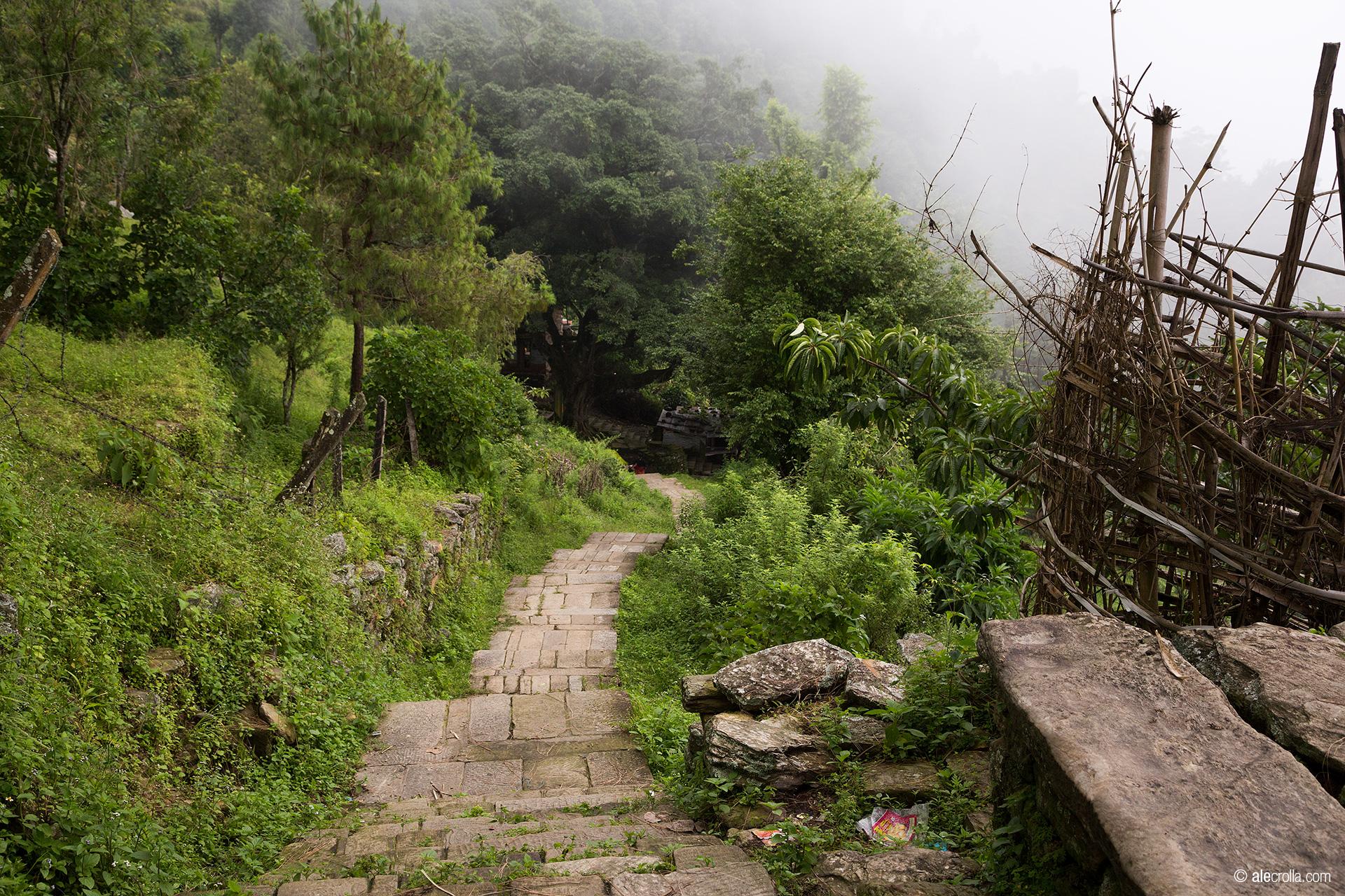 Gorkha: la scalinata verso il tempio