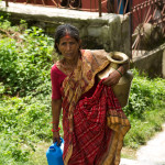 Gorkha: lungo la via verso il tempio