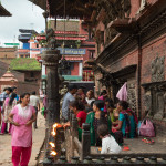 Bhaktapur: tempio in Durbar Square